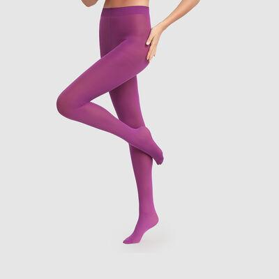 Dim Style 50D Opaque purple zinzolin velvety tights, , DIM