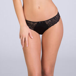 Sublim Dentelle bikini knickers in black, , DIM