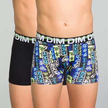 2 pack black and japanese patterns trunks - Eco Dim, , DIM