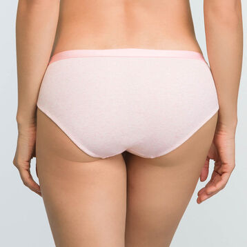 Mottled pink women's brief in stretch cotton Casual Line, , DIM