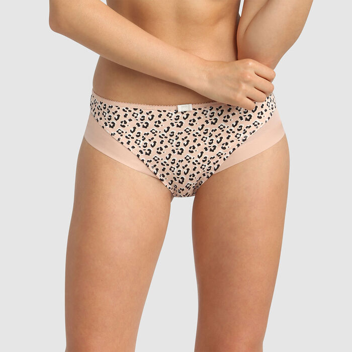 Dim Generous Animation wild print microfibre and tulle briefs, , DIM