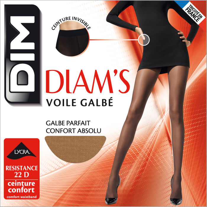 Diam's Voile Galbé 22 sheer shaping tights in dawn, , DIM