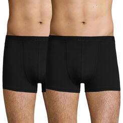 2 Pack men's soft stretch cotton trunks Black Soft Power, , DIM