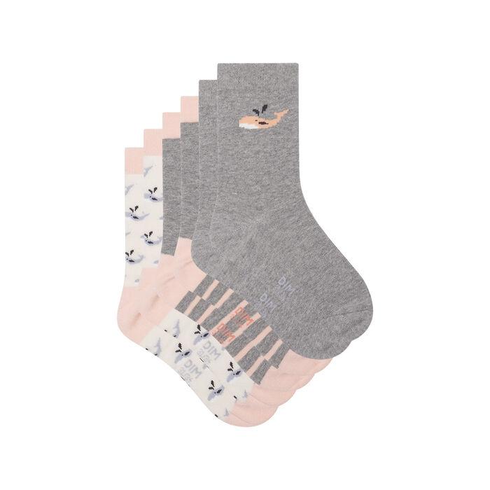 Lot de 3 paires de chaussettes motif baleine Pêche Kids Coton Style, , DIM