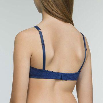 Girls' microfiber push-up bra in Denim Blue Dim Touch, , DIM