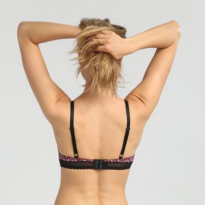 Dim Trendy Micro wild print underwired triangle bra, , DIM