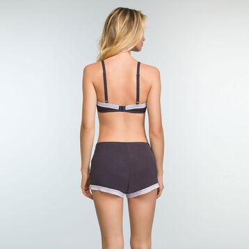 Short Pyjama Gris Granit en coton modal pour femme Softly Line, , DIM