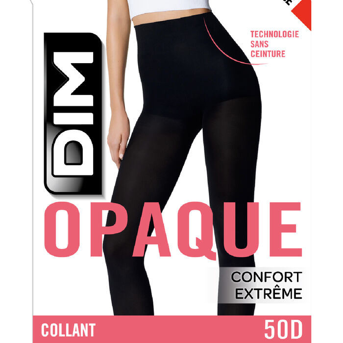 Black Style 50 opaque velour no waistband tights, , DIM