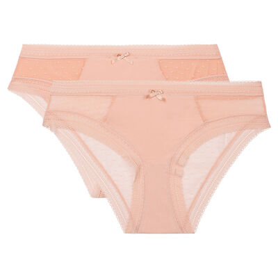 Lot de 2 culottes skin rose Sexy Transparency de Dim, , DIM