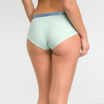 Pale green shorty in cotton - Les Pockets  , , DIM