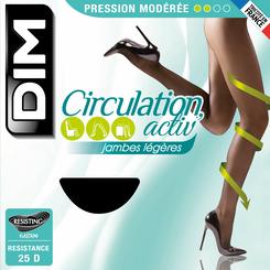Collant Circulation Activ' caramel à pression modérée 25D-DIM