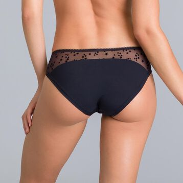 Limited edition Generous black velvety star knickers - DIM