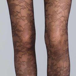DIM Signature 24 mystery black lace tights - DIM