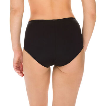 EcoDIM tummy-flattening high rise bikini knickers in black, , DIM