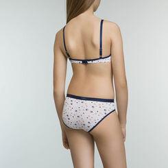 Girls' removable padding bra without underwiring Sailor Blue Box Poker, , DIM