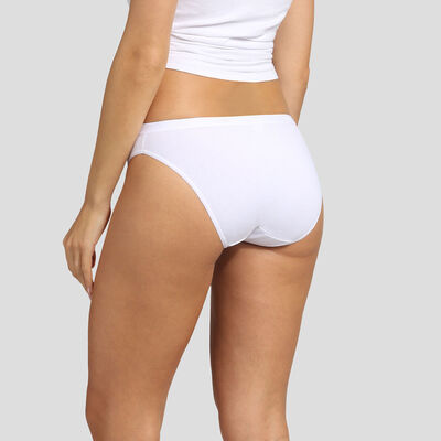 3 pack pink, red and white stretch cotton briefs EcoDim Les Pockets, , DIM