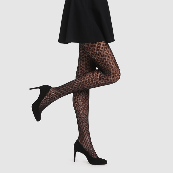 Black Berber crochet tights Dim Style, , DIM