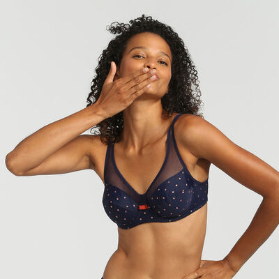 Generous Limited Edition underwired bra with sparkly polka dots, , DIM