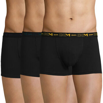 3 pack black trunks - Coton Stretch, , DIM