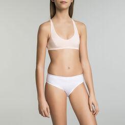 Sports bra for girl in peach pink - Pocket Micro, , DIM