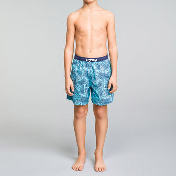 Tropical swim shorts for Boy  - Bain Tropical, , DIM