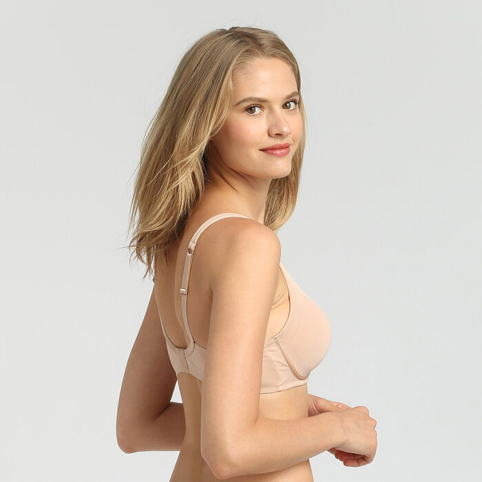 Generous Invisible nude wireless bra, , DIM