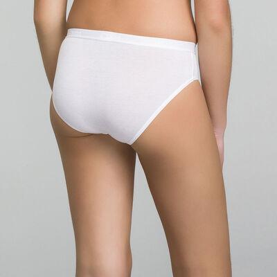 Комплект из 2 трусиков для девочки белого цвета с принтом в виде логотипа - Pocket Basic, , DIM