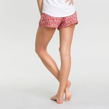 Pink pyjama shorts with foilage print - Fashion, , DIM