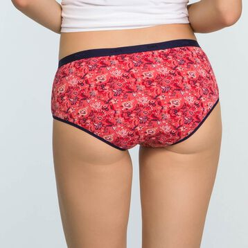 3 Pack Stretch Cotton Cashmere print Shorties Les Pockets, , DIM