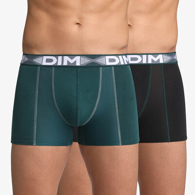 2 Pack men's trunks Pacific Green and Black 3D Flex Air, , DIM