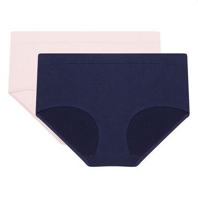 Набор 2шт.: Бесшовные шорты из микрофибры в синем и розовом цвете EcoDim Les Pockets, , DIM