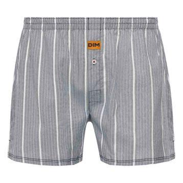 Dim 100% cotton loose fit boxer shorts in Stripe Print, , DIM