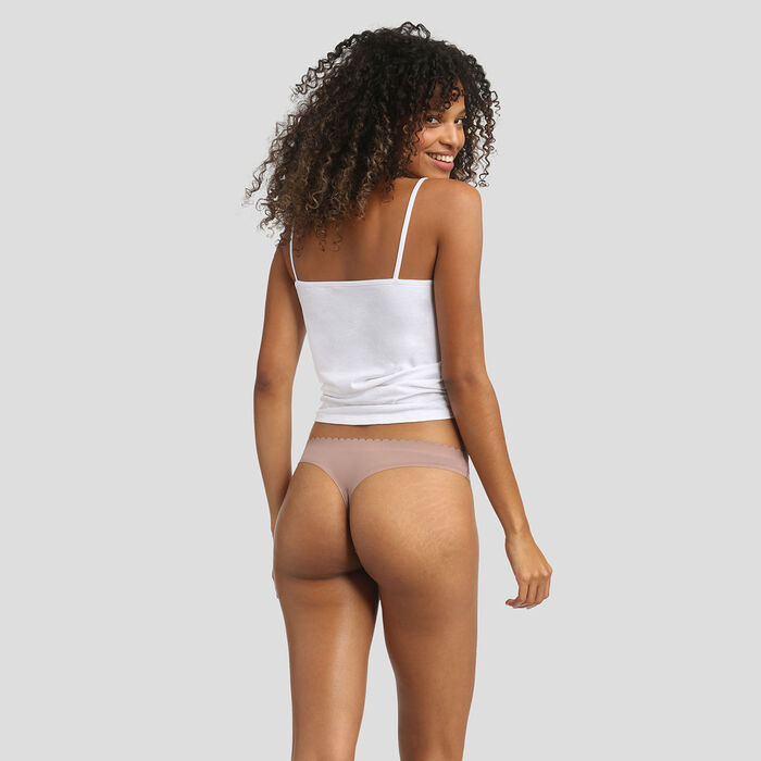 2 pack thongs clay and storm grey Body Touch Microfiber, , DIM