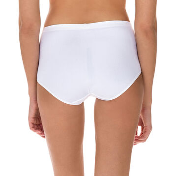 Generous microfibre high rise knickers in white, , DIM