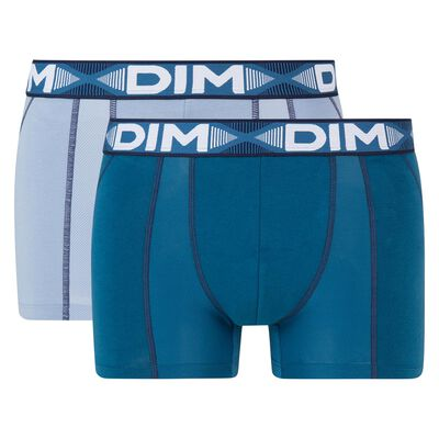 3D Flex Air 2 pack antiperspirant trunks in midnight blue, , DIM