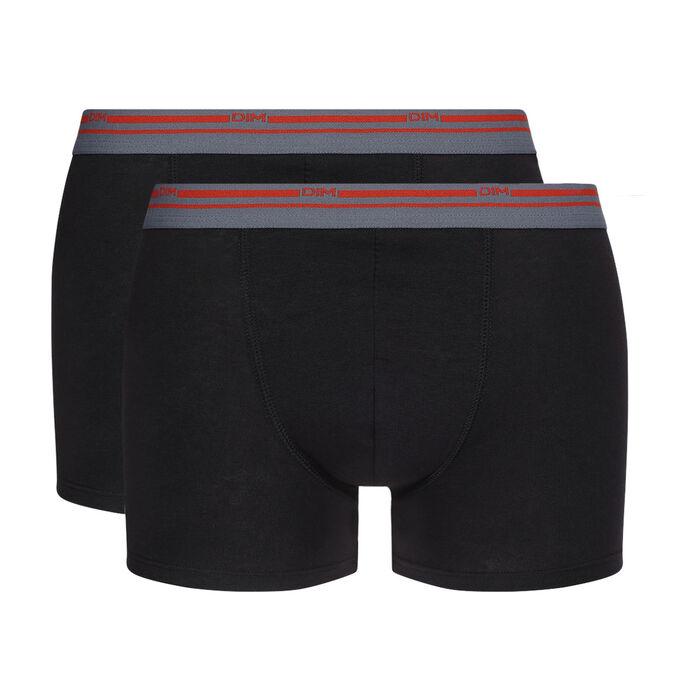 Комплект из 2 трусов-боксеров Daily Colors черного цвета, , DIM