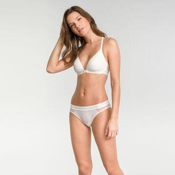 High-leg brief in pearly white lace - Dim Trendy Micro, , DIM