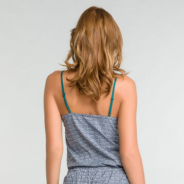 Pyjama top with lace and green patterns - DIM Odyssée, , DIM