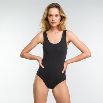 Black bodysuit in cotton - DIM Originals, , DIM