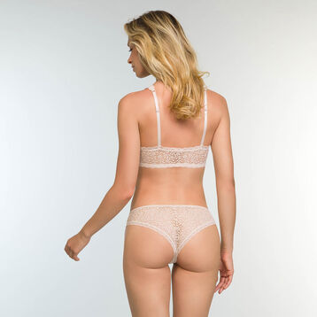 Women's Brazilian Tanga in Light Beige Daily Glam Trendy Sexy, , DIM