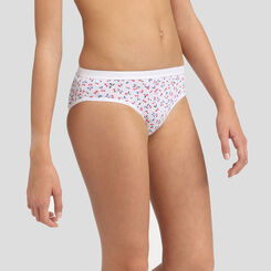 4 pack cherry print cotton briefs Dim Girl Les Pockets, , DIM