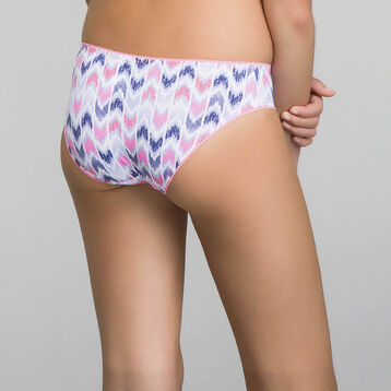 Pink and violet printed brief for Girl - Dim Ethnic, , DIM