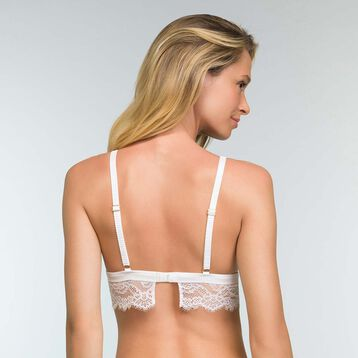 White lace triangle bra for women Refined Lace, , DIM
