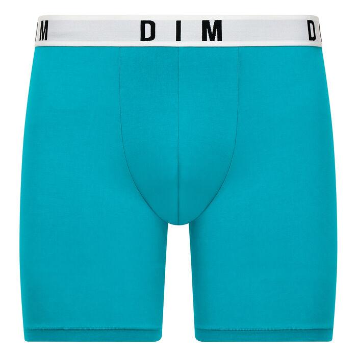 Acqua blue long trunks in cotton and modal - DIM Originals, , DIM