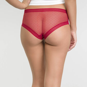 2 pack shorties in imperial red lace - Sexy Transparency, , DIM