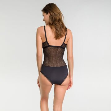 Black lace bodysuit - Dim Daily Glam Trendy Sexy, , DIM