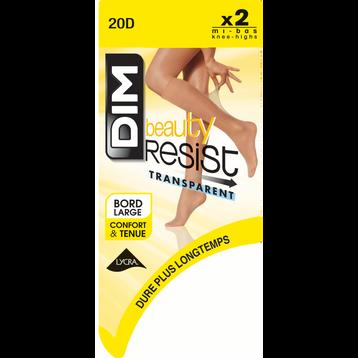 Lot de 2 Mi-Bas cannelle Beauty Resist 20D-DIM