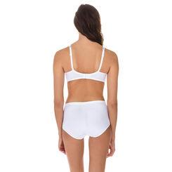 Culotte taille haute blanche Generous en microfibre-DIM