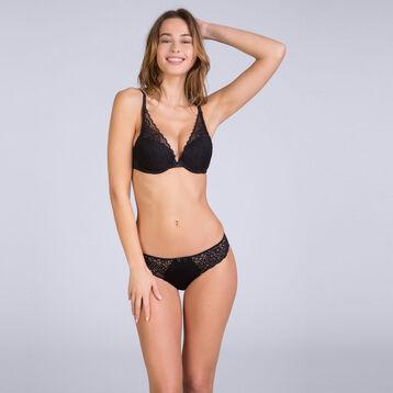Sublim Dentelle bikini knickers in black, , DIM