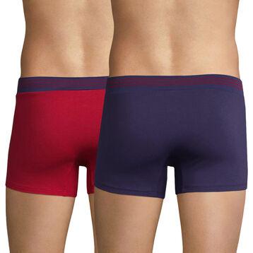 Lot de 2 boxers rouge et bleu - Soft Touch Pop, , DIM